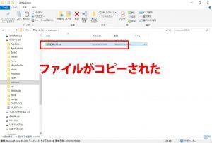 ファイルのコピー結果