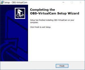 OBS-VirtualCam インストールの終了