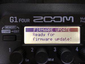 ZOOM G1 Four アップデート待機