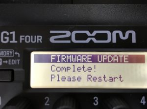 ZOOM G1 Four アップデート終了